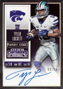 2015 Panini Contenders Football Rookie Ticket RPS Autograph Variation College Tyler Lockett