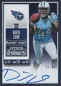 2015 Panini Contenders Football Rookie Ticket RPS Autograph Variation David Cobb