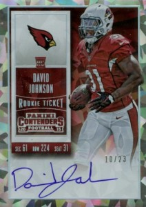 2015 Panini Contenders Football Rookie Ticket RPS Autograph Variation David Johnson