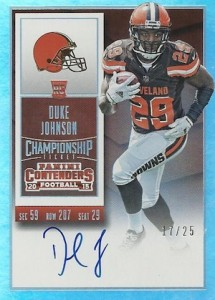 2015 Panini Contenders Football Rookie Ticket RPS Autograph Variation Duke Johnson