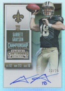 2015 Panini Contenders Football Rookie Ticket RPS Autograph Variation Grayson