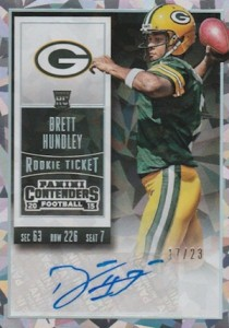 2015 Panini Contenders Football Rookie Ticket RPS Autograph Variation Hundley