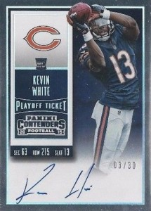 2015 Panini Contenders Football Rookie Ticket RPS Autograph Variation Kevin White