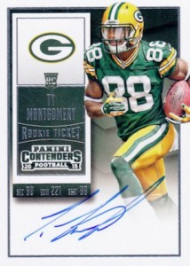 2015 Panini Contenders Football Rookie Ticket RPS Autograph Variation Ty Montgomery
