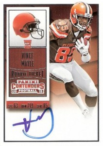 2015 Panini Contenders Football Rookie Ticket RPS Autograph Vince Mayle
