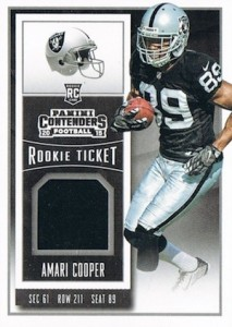2015 Panini Contenders Football Cards - SP/SSP Print Runs List Added 35