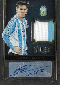 2015 Panini Select Jersey Autographs Lionel Messi