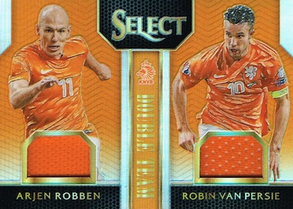 2015 Panini Select Soccer Double Team Jersey Relic