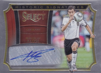 2015 Panini Select Soccer Historic Signatures Klose