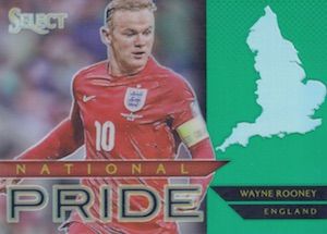 2015 Panini Select Soccer National Pride Rooney Green
