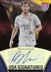 2015 Panini USA Soccer National Team Signatures Brad Evans