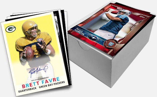 2015 Topps Football Oversized Red autogrpah Favre box