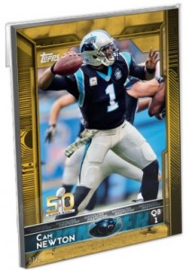 2015 Topps Super Bowl 50 Team Sets Carolina Panthers Cam Newton
