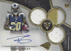 2015 Topps Triple Threads Todd Gurley RC Autographed Jersey