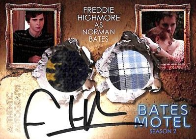2016 Breygent Bates Motel Season 1 and 2 Comic Con Autograph Costume Freddie Highmore as Norman Bates