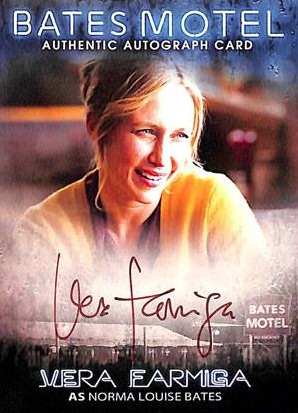 2016 Breygent Bates Motel Season 1 and 2 Comic Con Autograph Vera Farmiga as Norma Louis Bates