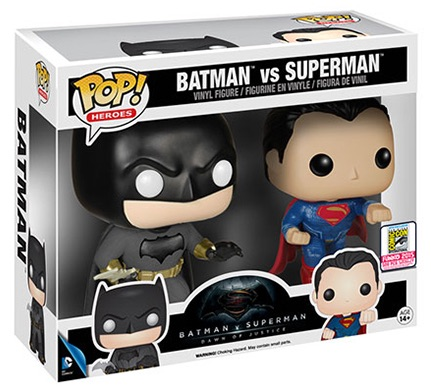 2016 Funko Pop Batman vs Superman Figures 2 pack SDCC
