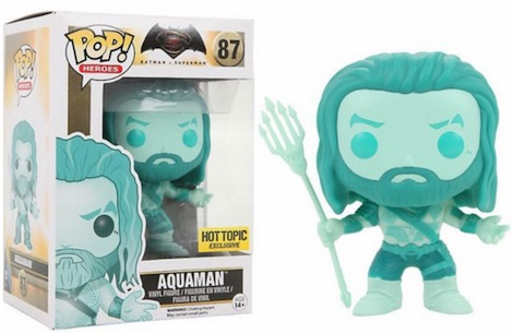 2016 Funko Pop Batman vs Superman Figures Aquaman Aqua Hot Topic Exclusive