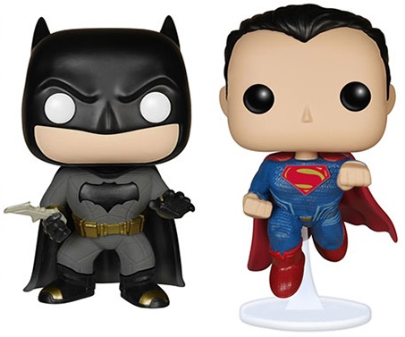 2016 Funko Pop Batman vs Superman Figures main