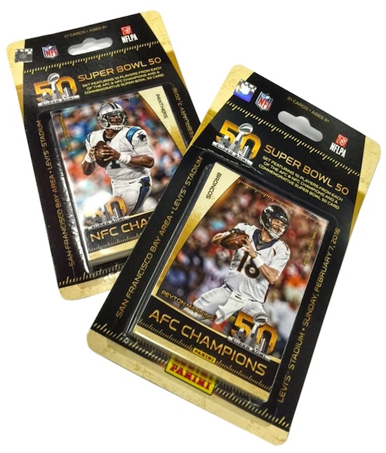 2016 Panini Super Bowl 50 Commemorative Football Cards - Checklist Added 1