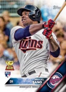 2016 Topps Baseball Miguel Sano RC