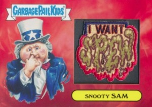 2016 Topps Garbage Pail Kids American as Apple Pie in Your Face Patriotic Patch Relic