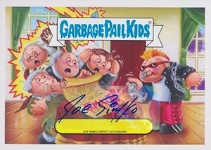 2016 Topps Garbage Pail Kids American as Apple Pie in Your Face base autograph simko