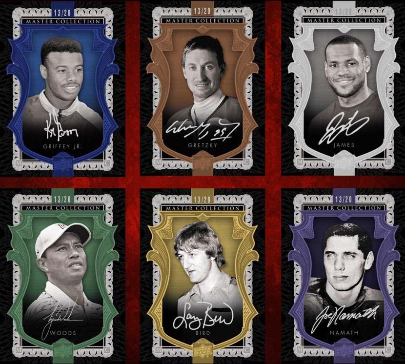 2016 Upper Deck All-Time Greats Master Collection Cards - Updated 1