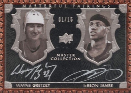 2016 Upper Deck All-Time Greats Master Collection Masterful Pairings Autographs Gretzky Lebron