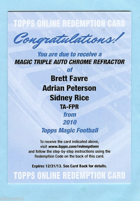 Big Time Hits Virtual Card Show: 2010 Football Cards 94