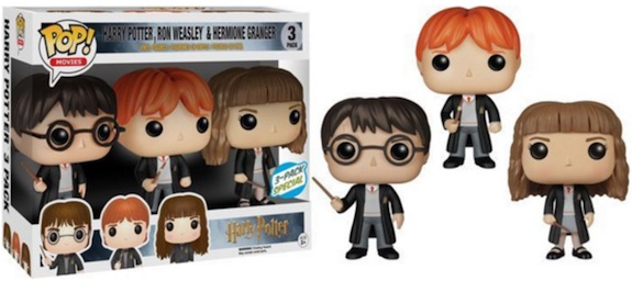 Funko Pop Harry Potter Harry Ron Hermione 3 pack