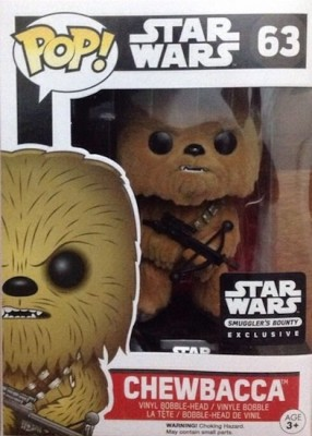Funko Pop Star Wars The Force Awakens Chewbacca Flocked