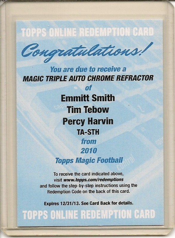 Big Time Hits Virtual Card Show: 2010 Football Cards 100