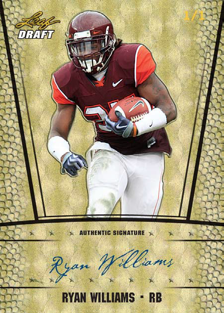 2011 Leaf Metal Draft Football 6