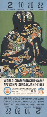 1968 Super Bowl II Ticket