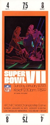 1973 Super Bowl VII Ticket