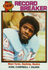 Top 10 Earl Campbell Football Cards 11