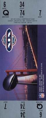 1985 Super Bowl XIX Ticket