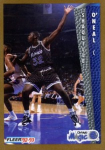 1992-93 Fleer Shaquille O'Neal Rookie Card RC 401
