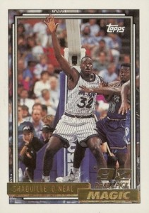 1992-93 Topps Shaquille O'Neal Rookie Card RC #362