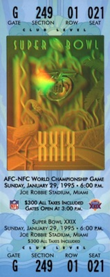 1995 Super Bowl XXIX Ticket