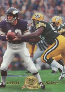 1996 Collector's Edge Time Warp Fran Tarkenton, Reggie White