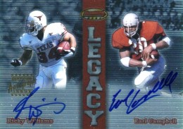 1999 Bowman's Best Ricky Williams Earl Campbell Autograph