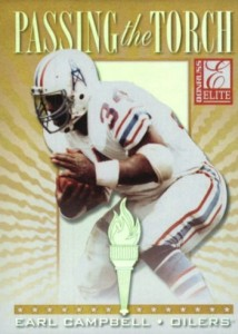 1999 Donruss Elite Passing the Torch Earl Campbell #7