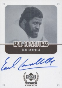 Top 10 Earl Campbell Football Cards 12