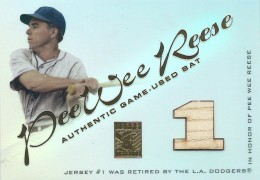 2001 Topps Tribute Pee Wee Reese Bat Relic