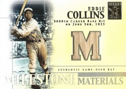 2002 Topps Tribute Milestone Materials Eddie Collins Bat Relic #MIM-EC