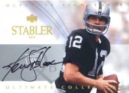 2003 Upper Deck Ultimate Signatures Ken Stabler Autograph
