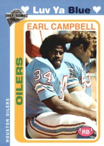 Top 10 Earl Campbell Football Cards 1