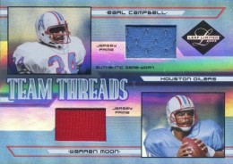 2005 Leaf Limited Team Threads Earl Campbell Warren Moon Jersey Relics